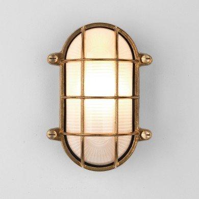 Astro Lighting - Thurso Oval 1376002 (7881) - Coastal IP44 Natural Brass Wall Light