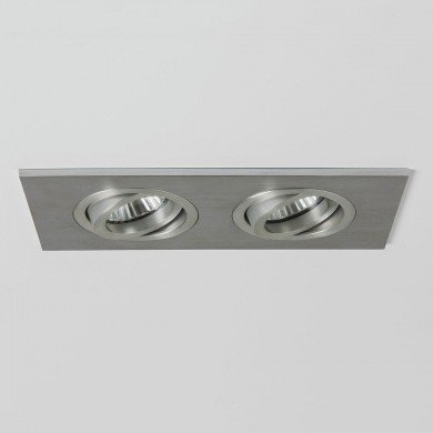 Astro Lighting - Taro Twin Fire-Rated 1240031 (5709) - Fire Rated Brushed Aluminium Downlight/Recessed Spot Light