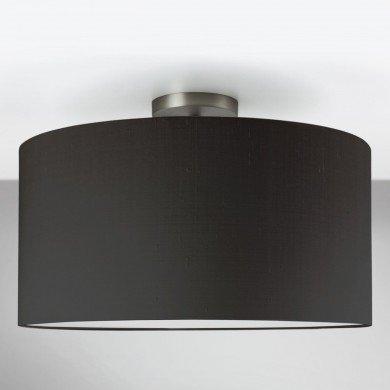 Astro Lighting - Semi Flush Unit 1362002 (7461) & 5016005 (4091) - Matt Nickel Ceiling Light with Black Shade