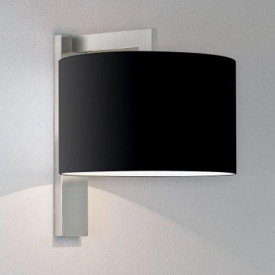 Astro Lighting - Ravello Wall 1222013 (7079) & 5016008 (4094) - Matt Nickel Wall Light with Black Shade Included