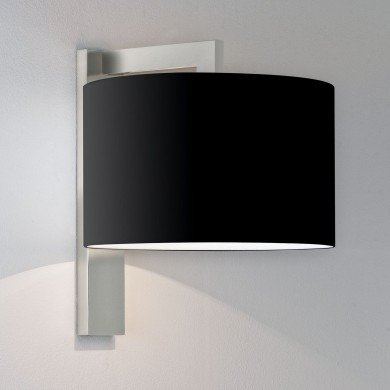 Astro Lighting - Ravello Wall 1222013 (7079) & 5016008 (4094) - Matt Nickel Wall Light with Black Shade Included