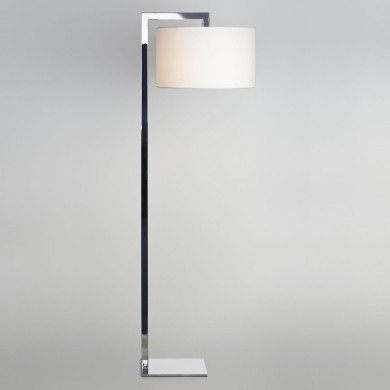 Astro Lighting - Ravello Floor 1222001 (4537) & 5016004 (4090) - Polished Chrome Floor Stand with White Shade