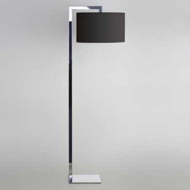 Astro Lighting - Ravello Floor 1222001 (4537) & 5016005 (4091) - Polished Chrome Floor Light with Black Shade Included