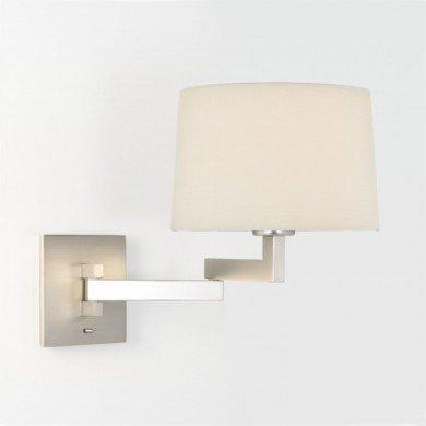 Astro Lighting - Momo Wall 1162003 (751) & 5006001 (4020) - Matt Nickel Wall Light with White Shade Included