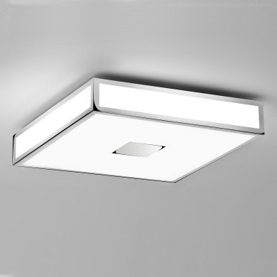 Astro Lighting - Mashiko 400 Square 1121010 (891) - IP44 Polished Chrome Ceiling Light