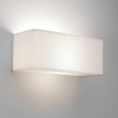 Astro Lighting - Ashino Wide 1166002 (767) - White Fabric Wall Light