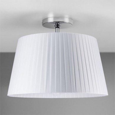 Astro Lighting - Semi Flush Unit 1362001 (7460) & 5002009 (4086) - Polished Chrome Ceiling Light with White Shade