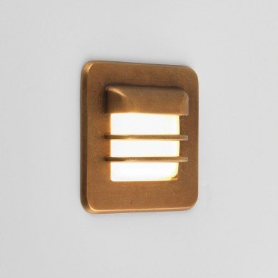 Astro Lighting - Arran Square LED 1379001 (7877) - IP65 Coastal Brass Marker Light
