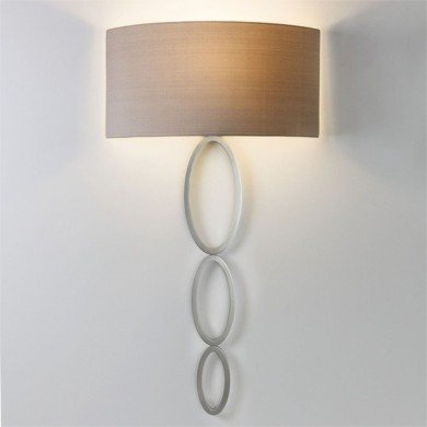 Astro Lighting - Valbonne 1356003 (7398) & 5029003 (4161) - Matt Nickel Wall Light with Oyster Shade