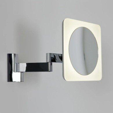 Astro Lighting - Niimi Square LED 1163002 (815) - IP44 Polished Chrome Magnifying Mirror