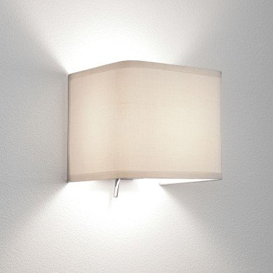 Astro Lighting - Ashino 1166001 (766) - White Fabric Wall Light