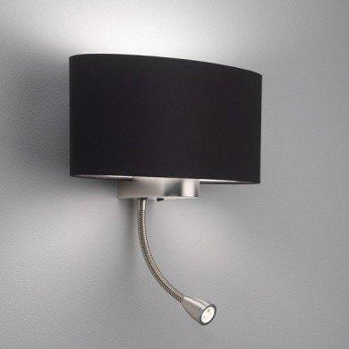 Astro Lighting - Napoli LED 1185002 (882) & 5014002 (4055) - Matt Nickel Reading Light with Black Shade Included