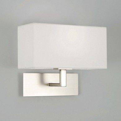 Astro Lighting - Park Lane 1080009 (763) - Matt Nickel Wall Light with White Shade Included