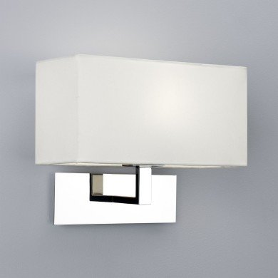 Astro Lighting - Park Lane 1080011 (865) - Polished Chrome Wall Light with White Shade
