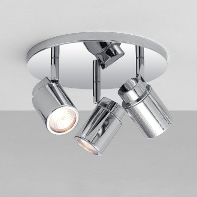 Astro Lighting - Como Triple Round 1282002 - IP44 Polished Chrome Spotlight