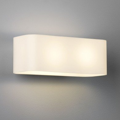 Astro Lighting - Obround 1072001 (408) - White Glass Wall Light