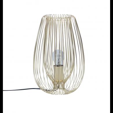 Satin Gold Wire 60W E27 Table Lamp