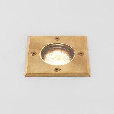 Astro Lighting - Gramos Square 1312004 (7952) - Coastal IP65 Natural Brass Ground Light