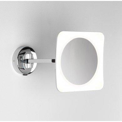 Astro Lighting - Mascali Square LED 1373003 (7968) - IP44 Polished Chrome Magnifying Mirror
