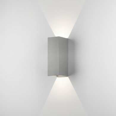 Astro Lighting - Oslo 255 LED 1298008 (7990) - IP65 Textured Painted Silver Wall Light