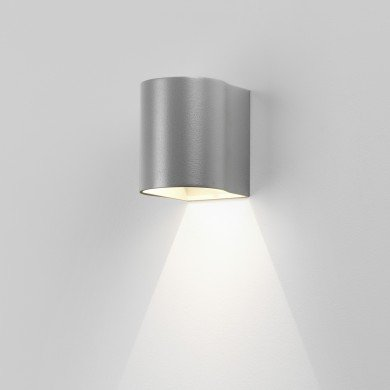 Astro Lighting - Dunbar 100 LED 1384008 (8059) - IP65 Textured Painted Silver Wall Light