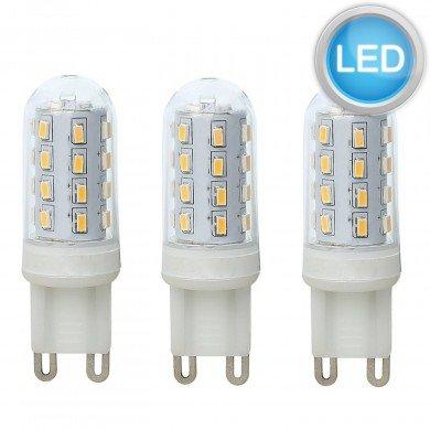 Set of 3 x 3W LED G9 Light Bulbs