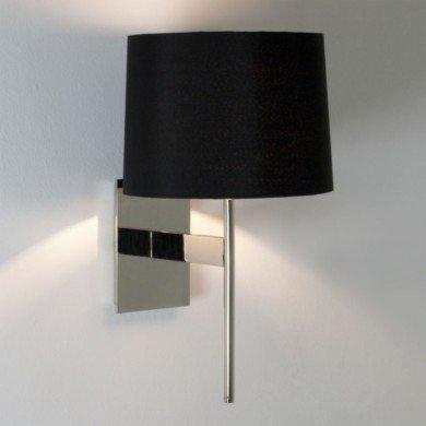 Astro Lighting - San Marino Solo 1076005 (941) & 5013002 (4050) - Polished Chrome Wall Light with Black Shade