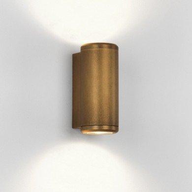 Astro Lighting - Jura Twin 1375002 (7809) - IP44 Coastal Brass Wall Light