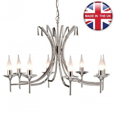 Elstead - Brightwell BR8-NICKEL Chandelier