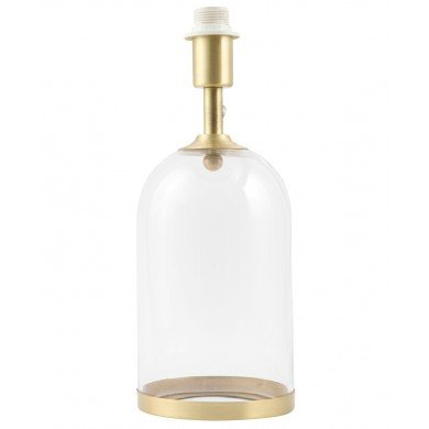 Satin Brass and Glass Cloche Design Table Lamp Base
