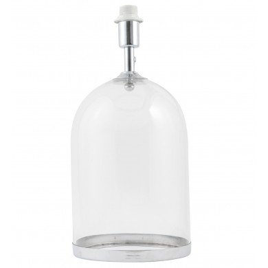 Large Chrome and Glass Cloche Design Table Lamp Base
