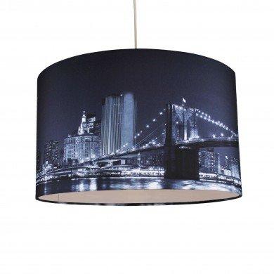 Digitally Printed Shade with New York City Skyline 400mm Diameter