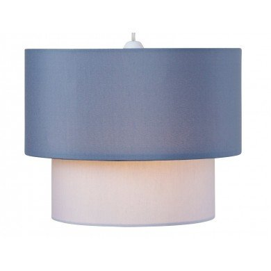 Easy Fit 2 Tier Grey Tones Cotton Fabric Ceiling Shade