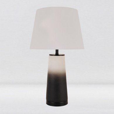 White & Grey Ombre Ceramic Table Lamp