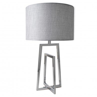 Chrome Sculptural Table Lamp