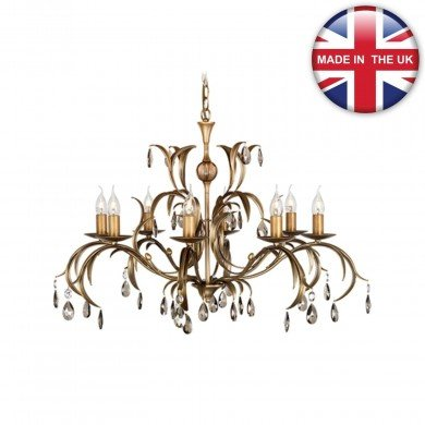 Elstead - Lily LL8-ANT-BRZ Chandelier