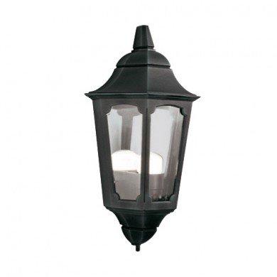 Elstead - Parish PR7-BLACK Half Lantern