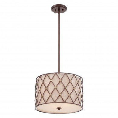 Elstead - Quoizel - Brown Lattice QZ-BROWN-LATTICE-P-M Pendant