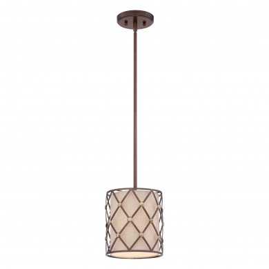 Elstead - Quoizel - Brown Lattice QZ-BROWN-LATTICE-P-S Pendant