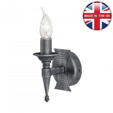 Elstead - Saxon SAX1-BLK-SIL Wall Light