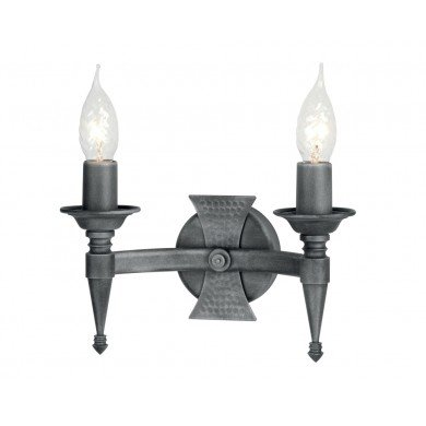 Elstead - Saxon SAX2-BLK-SIL Wall Light