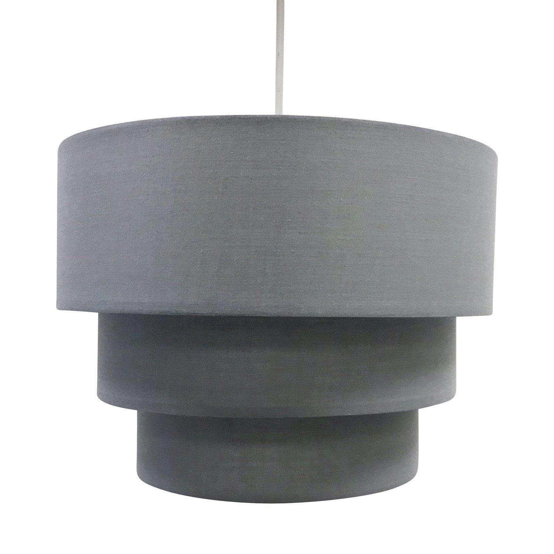 Dark Grey 3 Tier Ceiling Light Shade