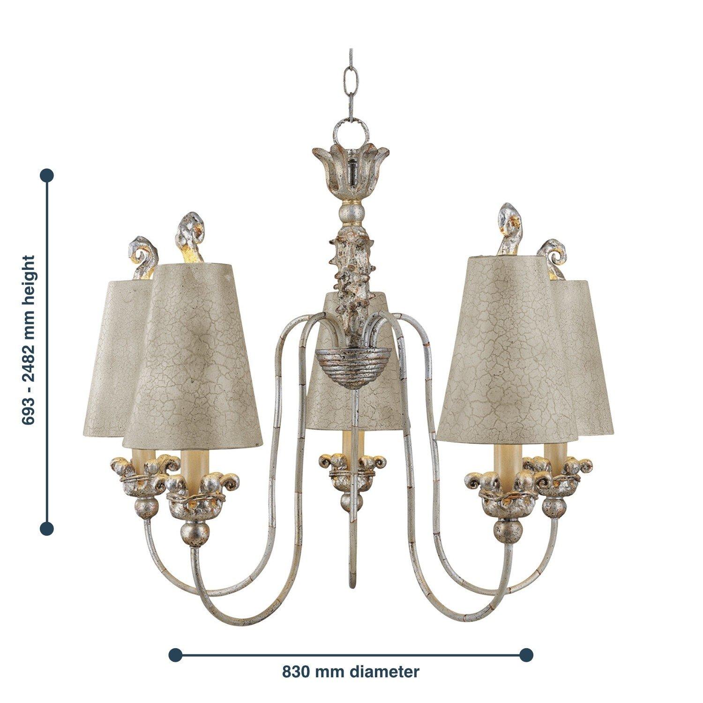 Sabina 5 Light Chandelier HK SABINA5 Elstead Lighting Ltd
