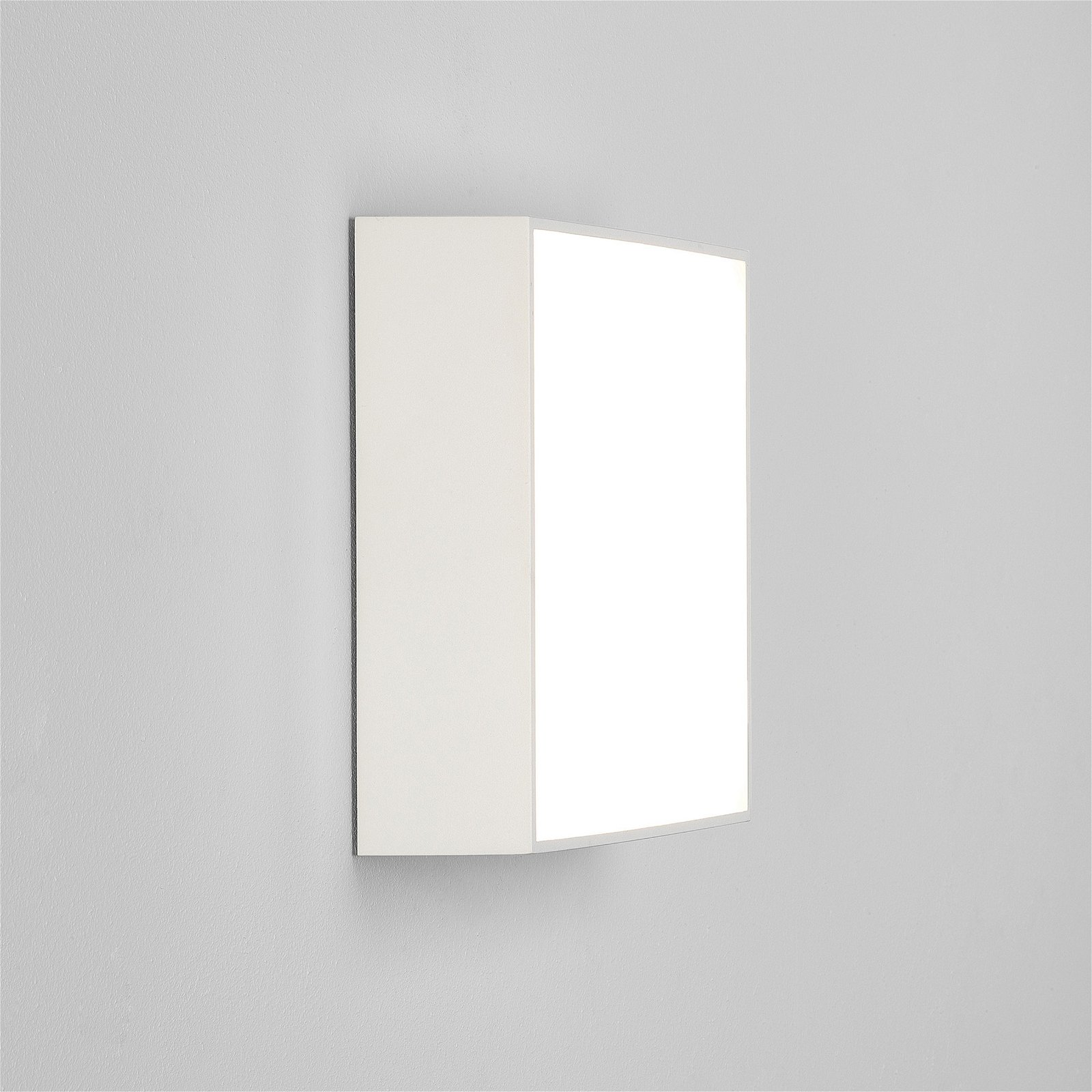 Textured White Ip65 Led 250mm Round Outdoor Wall Light