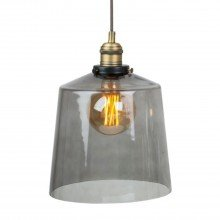 Smoked Glass Cloche Ceiling Pendant Light
