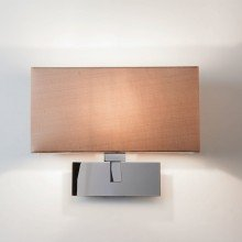 Astro Lighting - Park Lane Grande 1080004 (539) & 5001007 (4035) - Polished Chrome Wall Light with Oyster Shade