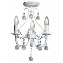 White 3 Light Crystal Chandelier