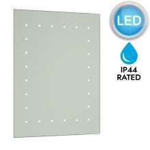 Battery Operated LED Illuminated Bathroom 600mm Rectangular Mirror