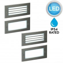 Pair of Stainless Steel LED Outdoor Brick Lights