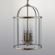 Antique Brass 3 Light Lantern Style Pendant
